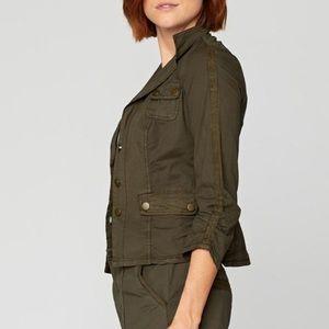 Neiman Marcus Army Green Folksy Jacket